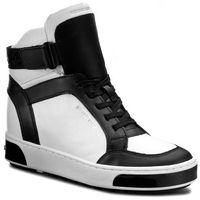 Sneakersy MICHAEL MICHAEL KORS - Pia High Top 43F6PAFE5L Opticwht/Blk, kolor czarny