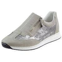 Półbuty Rieker 56061-80 Beżowo-srebrne, kolor beżowy