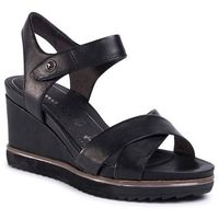 Sandały - 1-28350-24 black lea.uni 008 marki Tamaris