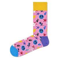 peace & love skarpetki różowy 36-40, Happy socks