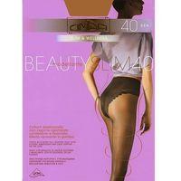 Rajstopy Omsa Beauty Slim 40 den 4-L, czarny/nero, Omsa, kolor czarny