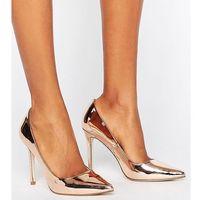 peru pointed high heels - gold, Asos