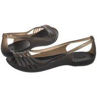 Crocs Sandały isabella huarache flat w black 202463-001 (cr99-a)