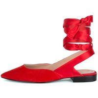 What For damskie sandały Adela 36 czerwone, kolor czerwony