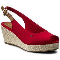 Espadryle TOMMY HILFIGER - Iconic Elba Basic Sling Back FW0FW02788 Tango Red 611, kolor czerwony