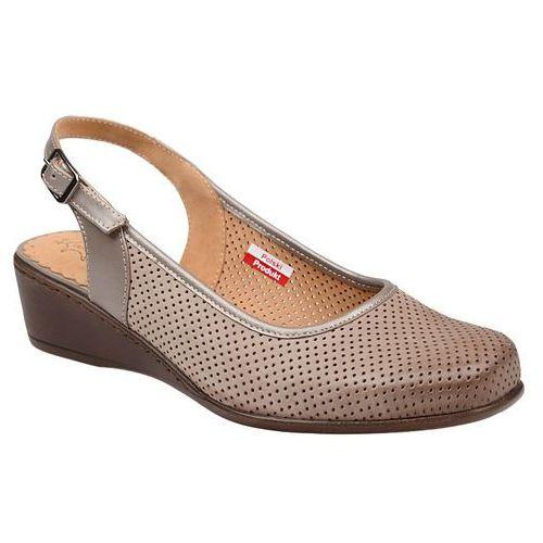 Axel Czółenka sandały comfort 1512 beżowe