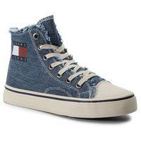 Sneakersy - hightop tommy jeans sneaker en0en00589 denim 404 marki Tommy jeans