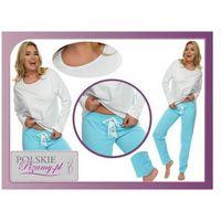 Piżama damska ELIZABETH kolor: niebieska, kolor niebieski
