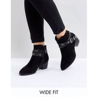 wide fit heeled ankle boots - black marki Truffle collection