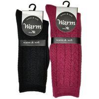 Skarpety warm&soft art.38920 damskie rozmiar: 39-42, kolor: grafitowy, wik, Wik