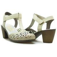 Sandały 40995-80 weiss/ kremowe marki Rieker