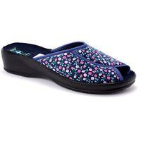 Pantofle Adanex 22393 granatowy, kolor niebieski
