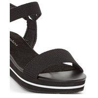 Płócienne sandały na koturnie, dla szerokich stóp 38-45, Castaluna