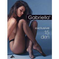 Rajstopy exclusive 15 den sable/odc.beżowego - sable/odc.beżowego marki Gabriella