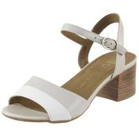 Sandały Nessi 17156 - Beżowo-białe