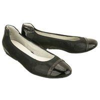 22139-28 black combination, baleriny, czółenka damskie - czarny marki Tamaris