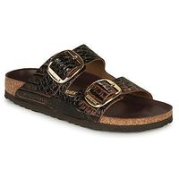Klapki Birkenstock ARIZONA BIG BUCKLE LEATHER, kolor brązowy
