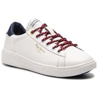 Sneakersy PEPE JEANS - Roxy Premium PLS30856 White 800, kolor biały