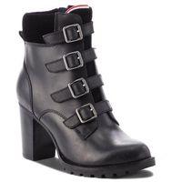 Botki - basic hiking heeled fw0fw03570 black 990 marki Tommy hilfiger