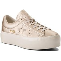 Sneakersy CONVERSE - One Star Platform Ox 559924C Light Gold/Light Gold/Egret