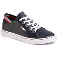 Sneakersy - glitter detail city sneaker fw0fw04705 desert sky dw5 marki Tommy hilfiger