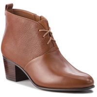 Botki CLARKS - Maypearl Lucy 261361494 Dark Tan Leather, kolor brązowy