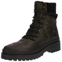 Tommy hilfiger kozaki sznurowane 'modern hiking boot camo' oliwkowy / czarny