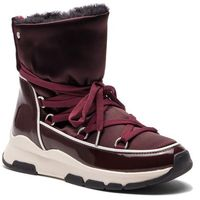 Buty TOMMY HILFIGER - Cool Technical Satin Winter Boot FW0FW03697 Decadent Chocolate 296, kolor czerwony