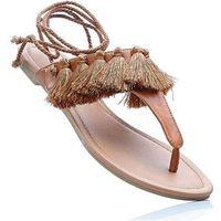 Sandały japonki bonprix koniakowy