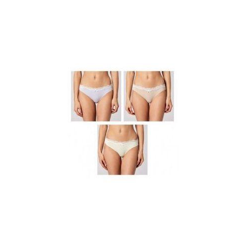 Figi damskie 3lp-129 mini bikini 3-pak, Atlantic