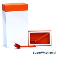 Pojemnik prostokątny 4 l O'LaLa biało-pomarańczowy