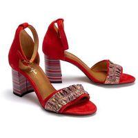 MACIEJKA 04144-08/00-5 czerwony, sandały damskie