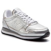 Sneakersy - x3x058 xf278 00520 silver, Emporio armani, 35-41
