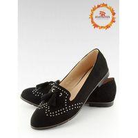 Mokasyny damskie czarne 22-05 BLACK 37, 1 rozmiar