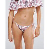 Playful Promises Delicate Floral Tie Side Bikini Bottoms - Pink, bikini