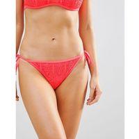 New look crochet high neck bikini bottoms - orange