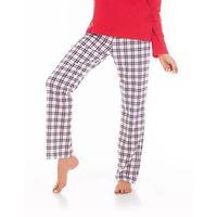Spodnie piżamowe 690 583005 czerwony-kratka - czerwony-kratka marki Cornette