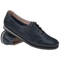 Mokasyny sznurowane buty SIMEN 6870 Granatowe - Granatowy (5902627313721)