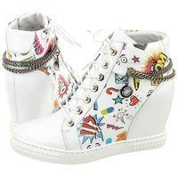 Sneakersy Carinii Białe B3028/F (CI204-a), w 3 rozmiarach
