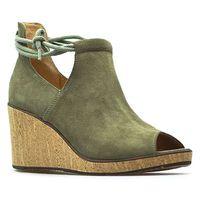 Sandały Ryłko 6HL07_AX_XC3 Oliwkowe zamsz, kolor zielony