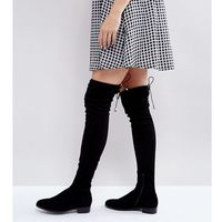 Asos tall Asos keep up tall flat over the knee boots - black