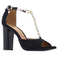 Sandały Fabio Fabrizi 781 Czarne zamsz, kolor czarny