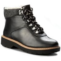 Botki CLARKS - Witcombe Rock 261273174 Black Leather, w 4 rozmiarach