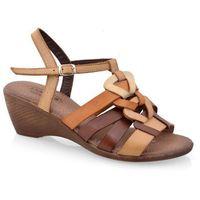 Sandały 32c968 brąz-beż marki Lanqier