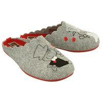 Kapcie Pantofle domowe Ciapy MANITU 320508-9 Popielate - Szary ||Popielaty ||Czerwony ||Multikolor