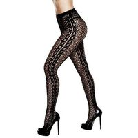 Rajstopy - baci braided jacquard pantyhose queen size marki Baci lingerie