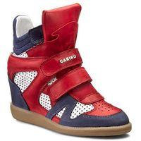 Sneakersy CARINII - B3400M Sam. 1238/Nappa Biała/Ferro 1242, w 4 rozmiarach