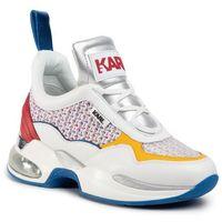 Sneakersy - kl61737 white lthr/textile w/multi, Karl lagerfeld