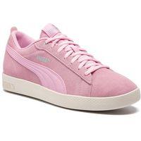 Sneakersy - smash wns v2 sd 365313 15 pale pink/silver/w white, Puma, 36-41