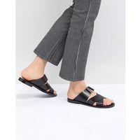 cross strap flat sandal in black - black marki Pull&bear